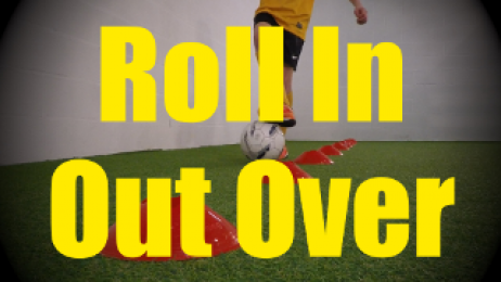 Roll In Out Over - Cones Dribbling Drills for U10-U11