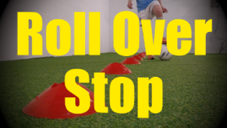 Roll Over Stop - Cones Dribbling Drills for U10-U11