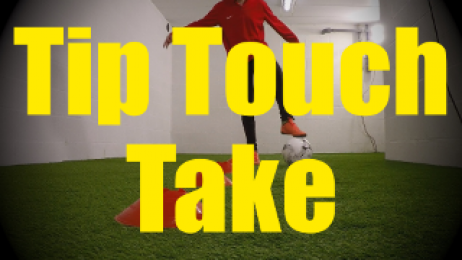 Tip Touch Take - Cones Dribbling Drills for U10-U11