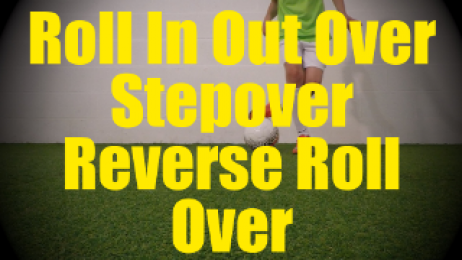 Roll In Out Over Stepover Reverse Roll Over - Static Ball Control Drills for U10-U11