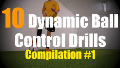 10 Dynamic Ball Control Drills to improve your Ball Mastery Skills - Compilation #1