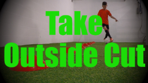 Take Outside Cut - Cones Dribbling Drills for U8-U9