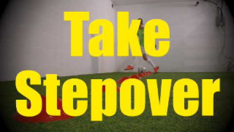 Take Stepover - Cones Dribbling Drills for U10-U11