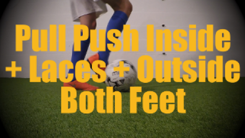 Pull Push Laces + Inside + Outside Both Feet - Static Ball Control Drills for U12-U13