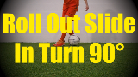 Roll Out Slide Behind Turn 90° - Static Ball Control Drills for U10-U11