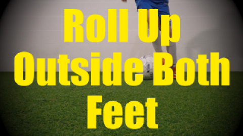 Roll Up Outside Both Feet - Static Ball Control Drills for U10-U11