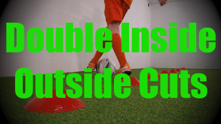 Double Inside Outside Cuts - Cones Dribbling Drills for U8-U9