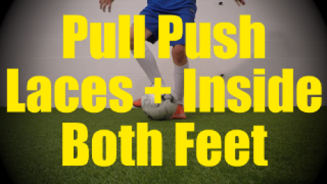 Pull Push Laces + Inside Both Feet - Static Ball Control Drills for U10-U11