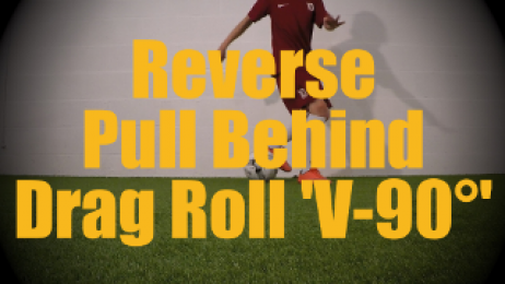 Reverse Pull Behind Drag Roll 'V-90°' - Static Ball Control Drills for U12-U13