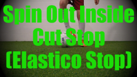 Spin Out Inside Cut Stop (Elastico Stop) - Static Ball Control Drills for U8-U9