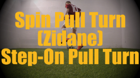 Spin Pull Turn (Zidane) Step-On Pull Turn - Static Ball Control Drills for U12-U13